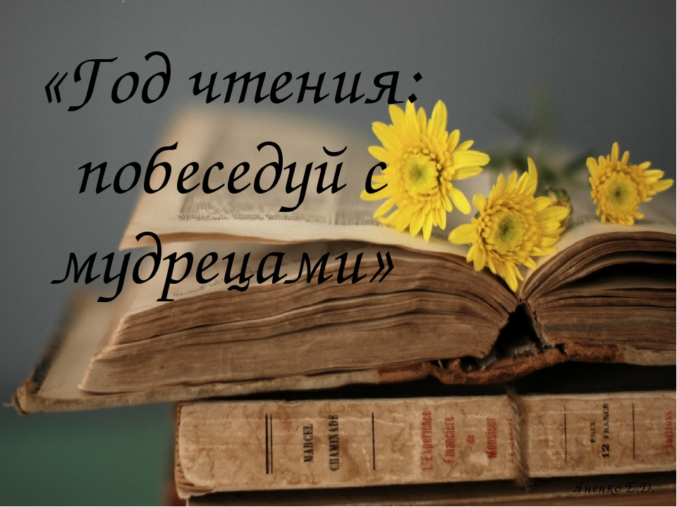 «Год чтения: побеседуй с мудрецами» Яненко Е.Д.