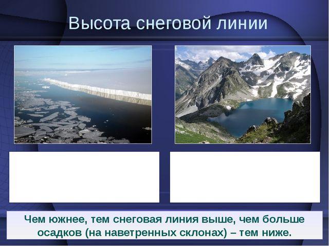 На Земле Франца-Иосифа и на Новой Земле снеговая линия располагается на уровн...
