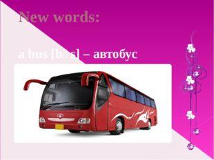 New words: a bus [bʌs] – автобус