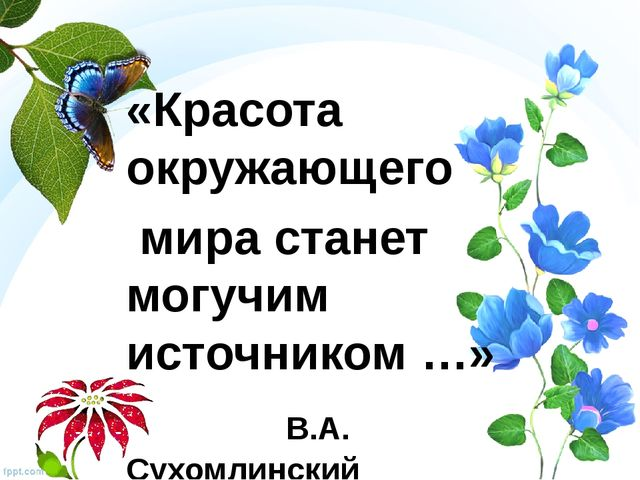 «Красота окружающего мира станет могучим источником …» В.А. Сухомлинский