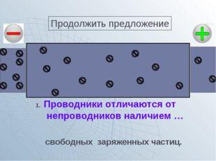 Проводники отличаются от непроводников наличием … свободных заряженных частиц