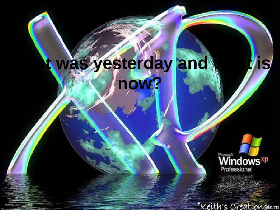 What was yesterday and what is now?