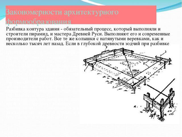 Закономерности архитектурного формообразования плана на участке продолжал тво...