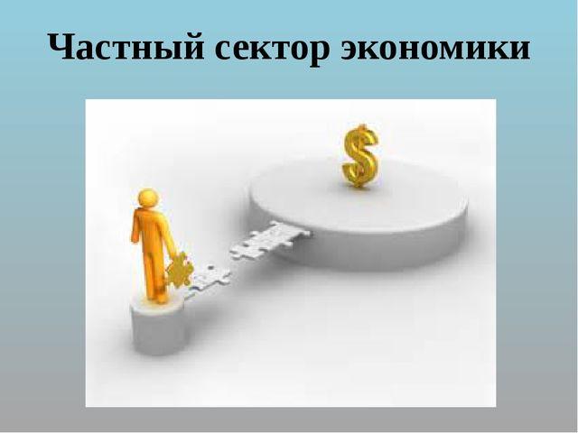 Частный сектор экономики