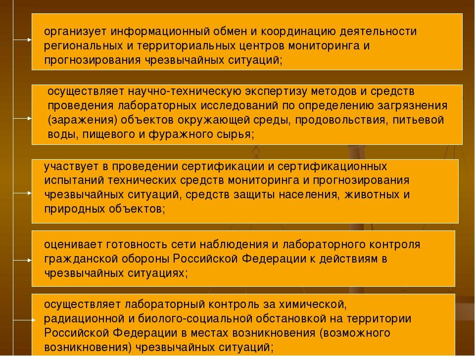 организует информационный обмен и координацию деятельности региональных и тер...