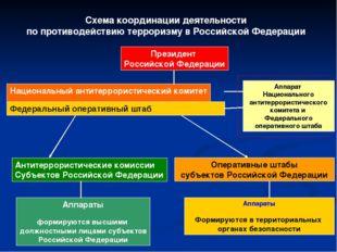 Схема координации деятельности по противодействию терроризму в Российской Фед