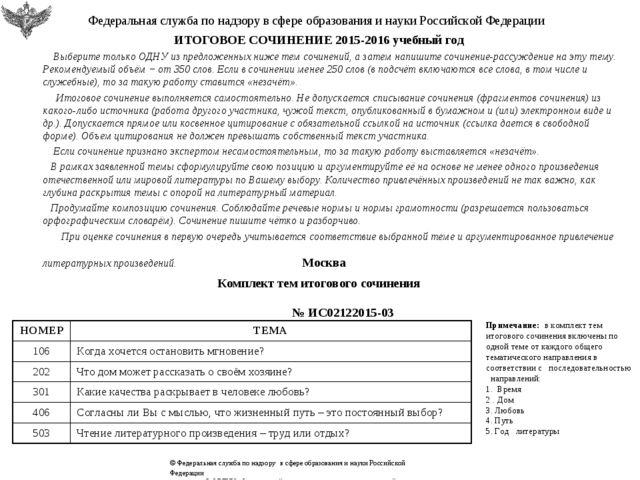 Федеральная служба по надзору в сфере образования и науки Российской Федерац...