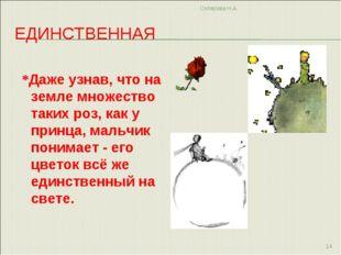 ЕДИНСТВЕННАЯ *Даже узнав, что на земле множество таких роз, как у принца, мал