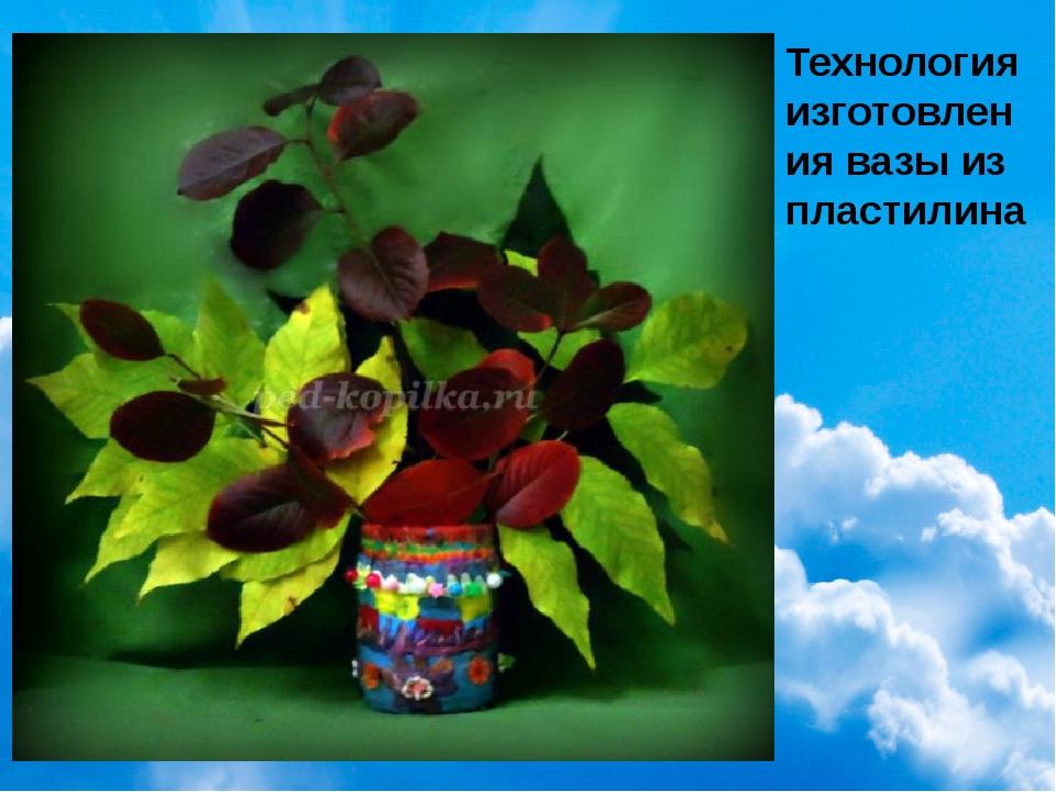 Технология изготовления вазы из пластилина