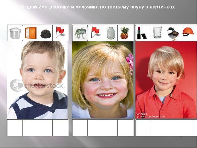 Угадай имя девочки и мальчика по третьему звуку в картинках
