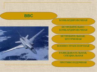 РАЗВЕДЫВАТЕЛЬНАЯ, СПЕЦИАЛЬНАЯ ВВС ВОЕННО-ТРАНСПОРТНАЯ ИСТРЕБИТЕЛЬНАЯ, ШТУРМОВ