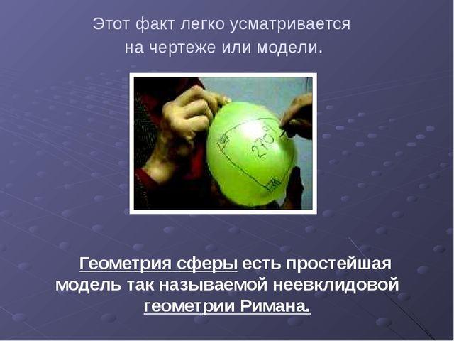 Этот факт легко усматривается на чертеже или модели. Геометрия сферы есть про...