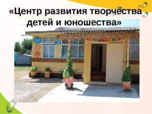 «Центр развития творчества детей и юношества»