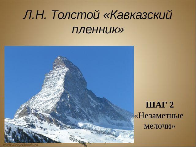 Л.Н. Толстой «Кавказский пленник» ШАГ 2 «Незаметные мелочи»
