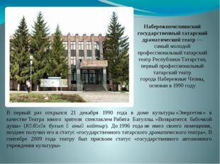 Набережночелнинский государственный татарский драматический театр— самый мол