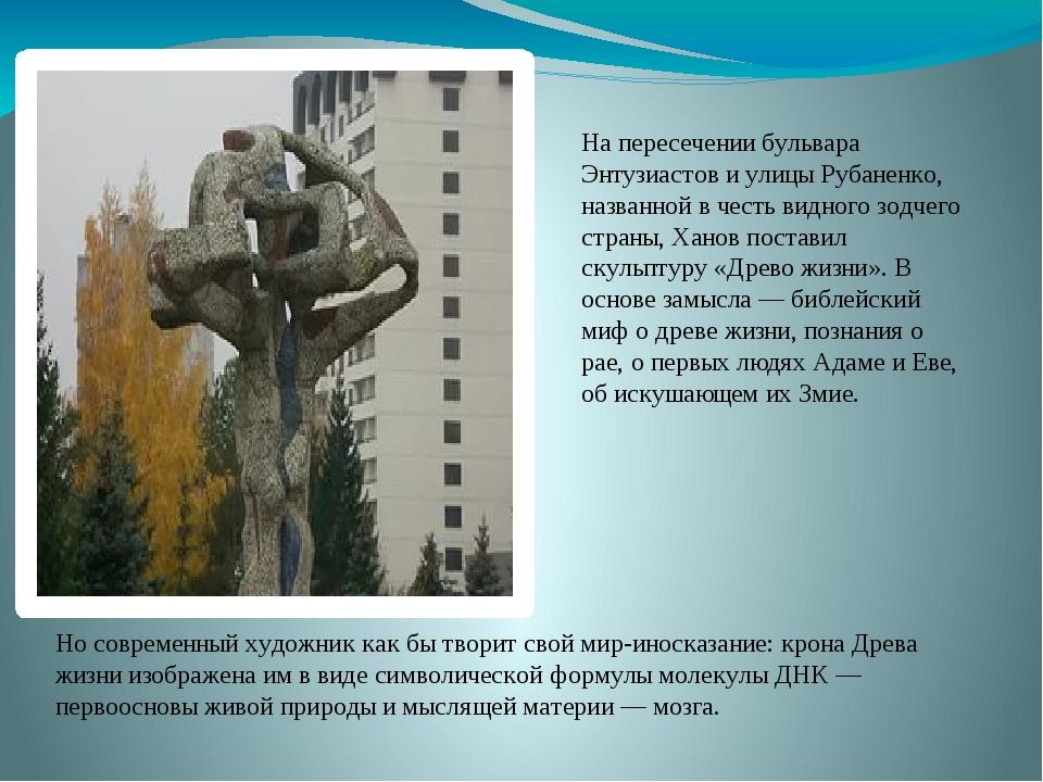 На пересечении бульвара Энтузиастов и улицы Рубаненко, названной в честь видн...