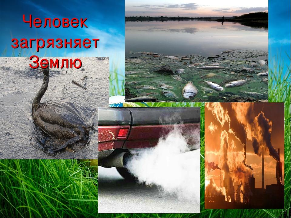 чем загрязняют землю в картинках