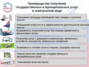 Преимущества получения государственных и муниципальных услуг в электронном ви