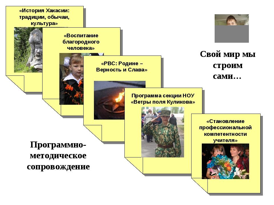 \ Свой мир мы строим сами… «История Хакасии: традиции, обычаи, культура» Про...