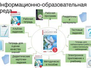 Информационно-образовательная среда Рабочая программа Альбом-задачник Тетрадь