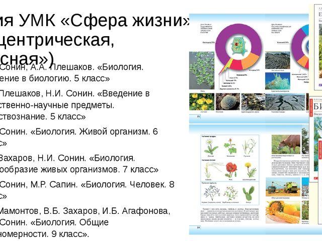Линия УМК «Сфера жизни» (концентрическая, «красная») Н.И. Сонин, А.А. Плешако...