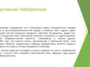 Спортивная Набережная Спортивная набережная или Спортивная гавань Владивосток