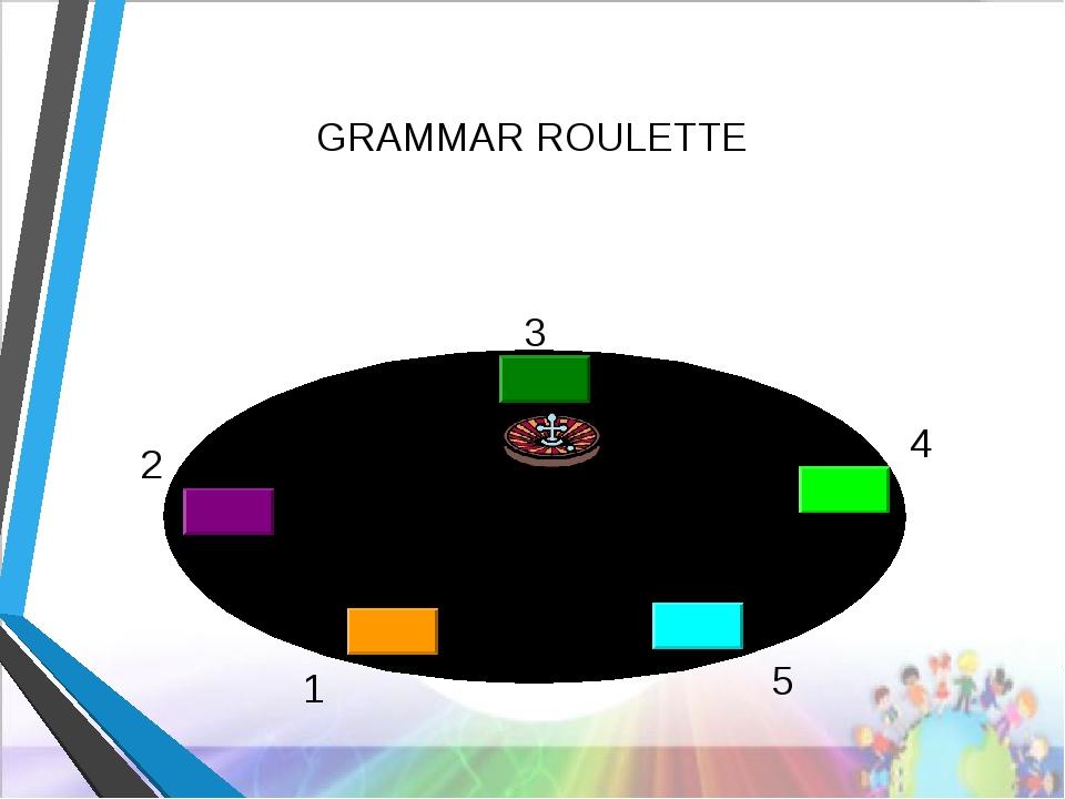 4 3 2 финиш 1 5 GRAMMAR ROULETTE