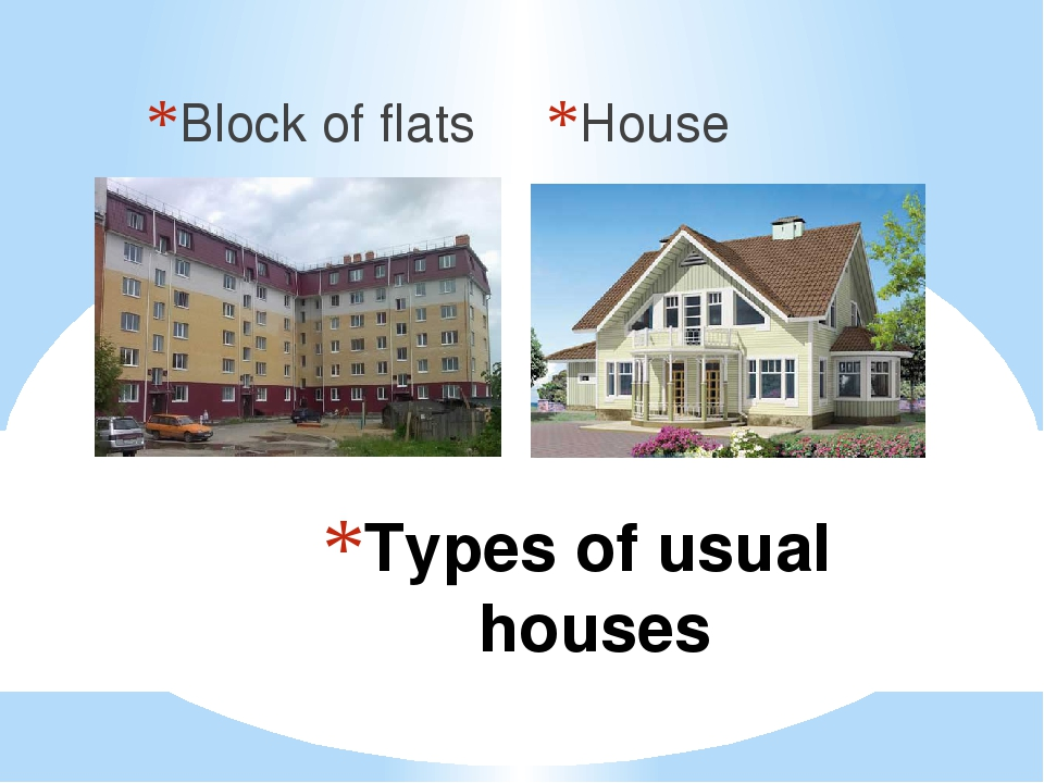 Block of flats House Types of usual houses
