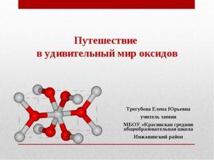 Путешествие в удивительный мир оксидов Трегубова Елена Юрьевна учитель химии