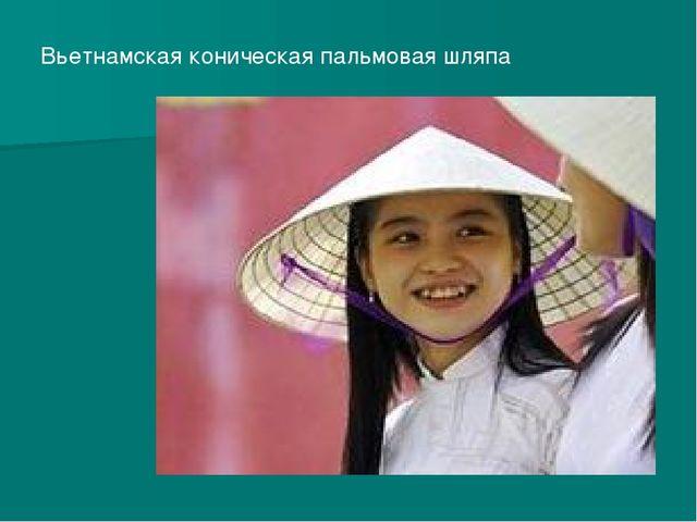 Вьетнамская коническая пальмовая шляпа