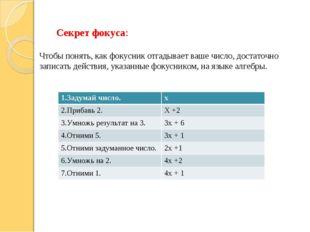 Секрет фокуса: Чтобы понять, как фокусник отгадывает ваше число, достаточно з