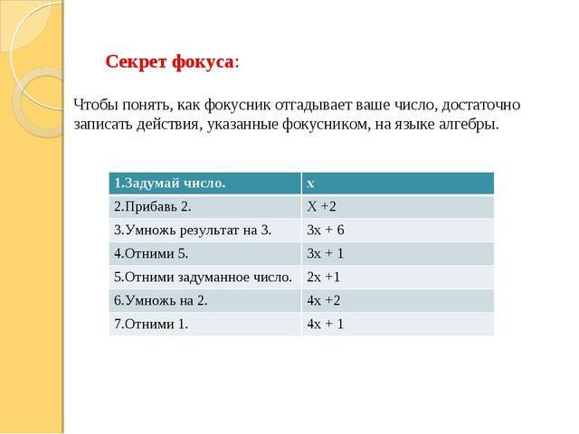 Секрет фокуса: Чтобы понять, как фокусник отгадывает ваше число, достаточно з...