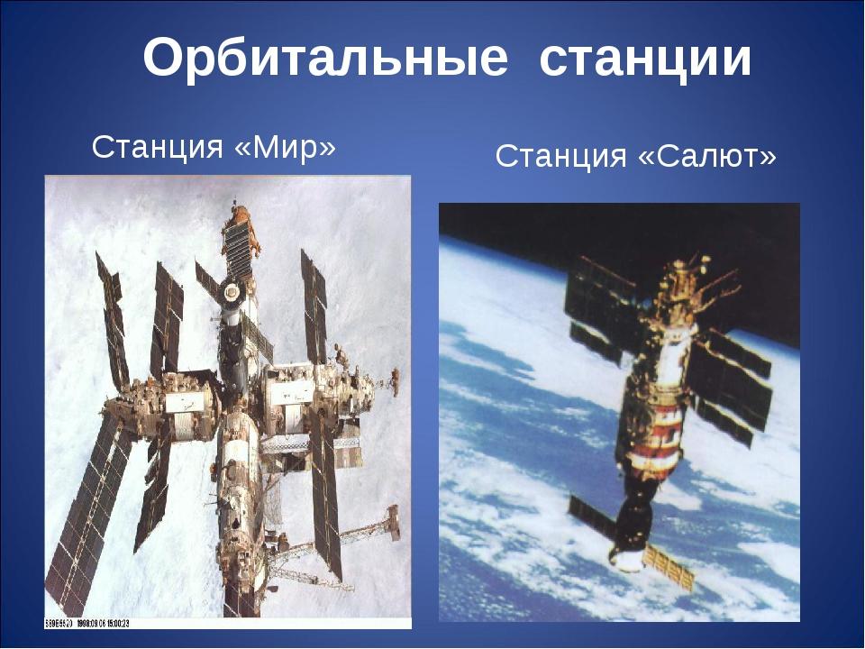 Орбитальные станции Станция «Мир» Станция «Салют»