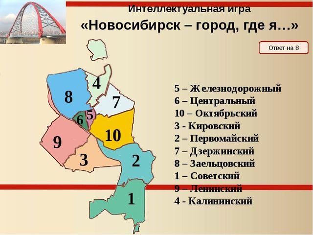 Интеллектуальная игра «Новосибирск – город, где я…» 3 раунд
