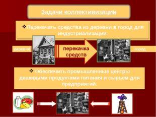 Задачи коллективизации перекачка средств город деревня