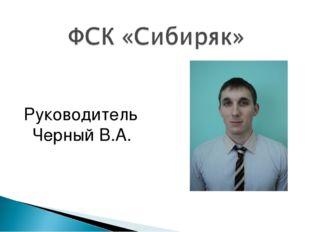 Руководитель Черный В.А.