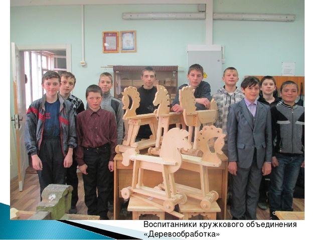 Воспитанники кружкового объединения «Деревообработка»
