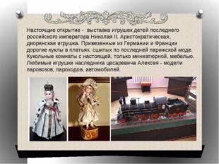 Настоящие открытие - выставка игрушек детей последнего российского императора