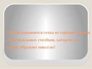 29) Как называется сетка из горизонтальных и вертикальных столбцов, которую н