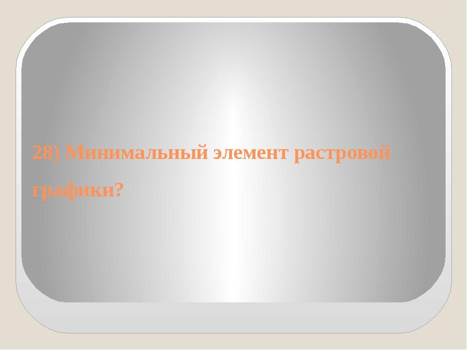 28) Минимальный элемент растровой графики?