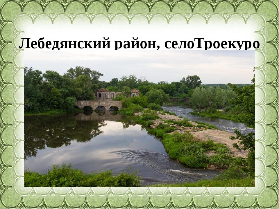 Лебедянскийрайон,селоТроекурово