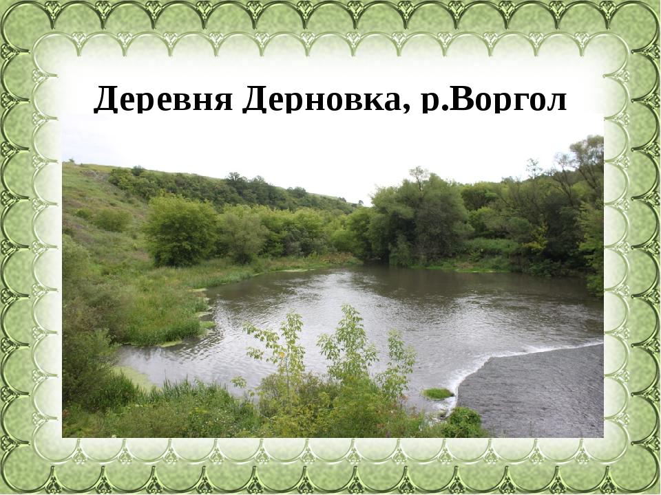 Деревня Дерновка, р.Воргол