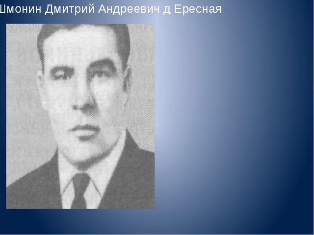 Шмонин Дмитрий Андреевич д Ересная