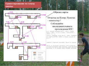 Ориентирование по плану школы