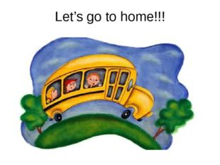 Let's go to home!!!