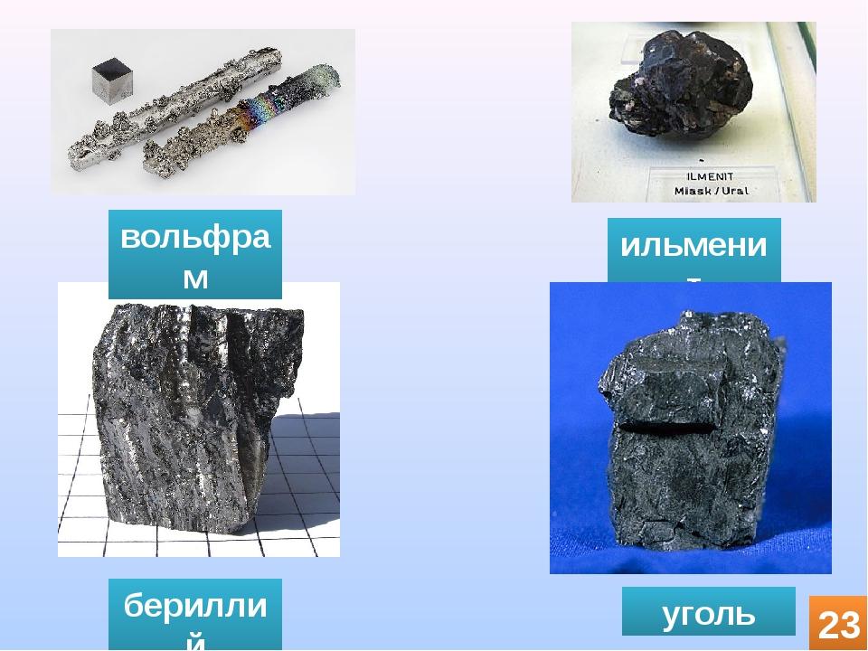 бериллий вольфрам ильменит уголь 23