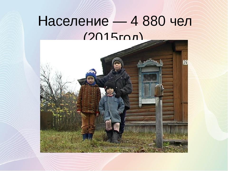 Население— 4 880 чел (2015год).