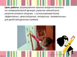 Цель работы: формирование навыков владения языком в его коммуникативной функц