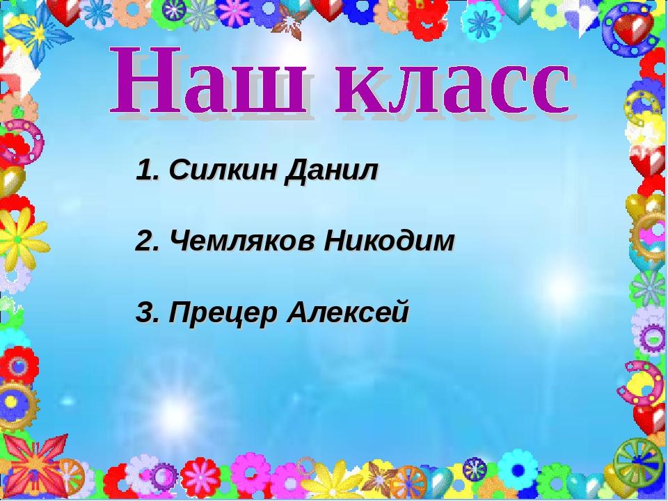 Силкин Данил Чемляков Никодим Прецер Алексей