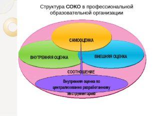 Структура СОКО в профессиональной образовательной организации
